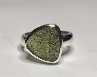 Moldavite Ring US 9