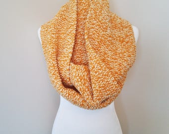 Women's gold & yellow infinity scarf