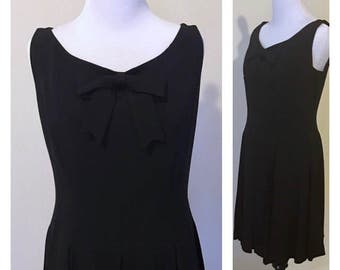 Moschino Cheap and Chic lbd black dress small 1990s