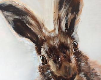 Hare Print Art wall home decor