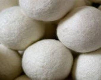 SALE!  Wholesale Co-op Bulk 300 Wool Dryer Balls White OR Gray Natural Laundry Softener - Gentle on your Laundry, Skin and Wallet