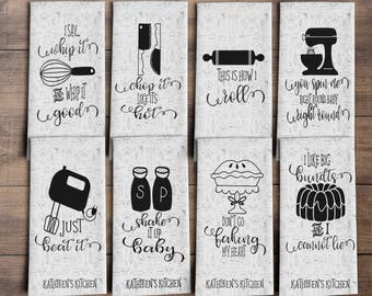 Beautiful Funny Dish Towels   Funny Kitchen Towels   Housewarming Gift   Funny Towels    Gift For