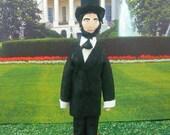 Art Doll Presidential Miniature Abraham Lincoln