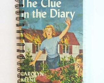 Nancy Drew Journal, Diary, Notebook, Blank Book, Upcycled Book Journal, Vintage Book Journal, Clue in the Diary