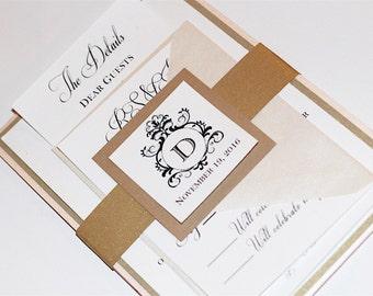 Monogram Layered Wedding Invitation