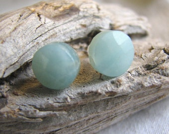 pale blue post earrings
