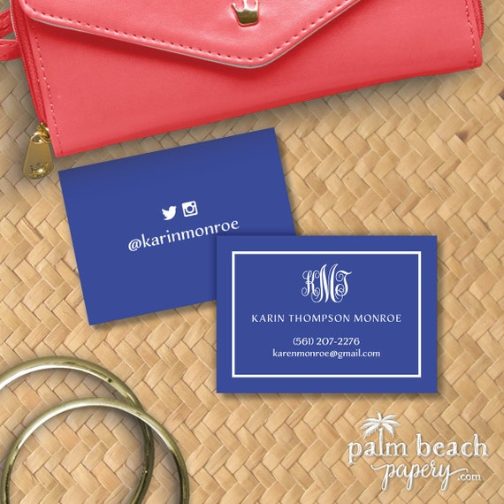 Worth Avenue Calling Cards Monogram Personal Contact
