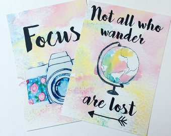 Wanderlust - set of two postcards