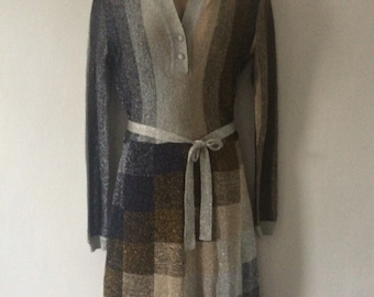 Ian Peters fabulous vintage metallic dress size UK 12-14
