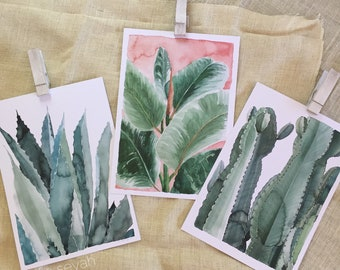 3 x A3 Sofie Seyah Illustration Watercolour Art Prints
