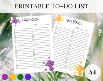 To Do List Printable, Printable Planner Pages, Planner To Do List, Planner Inserts A4, Printable Inserts, Filofax Inserts