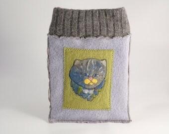 Blue cat tablet sleeve
