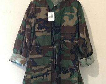 Unisex Army Fatigue Camo Jacket Aopx81
