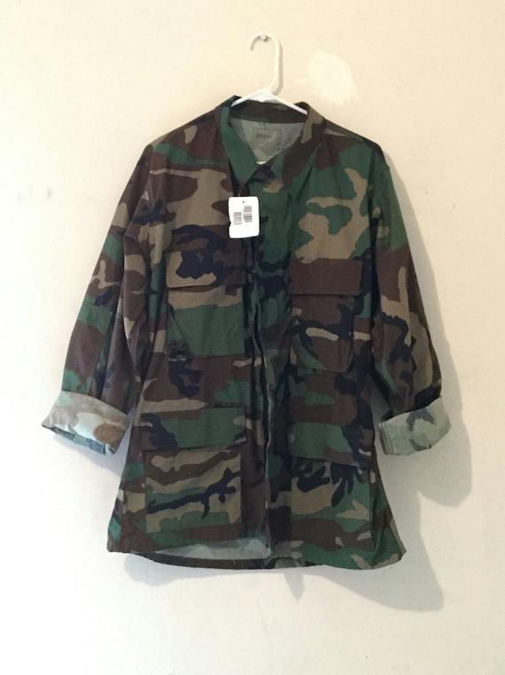 Studded Spiked Back Army Fatigue Jacket Custom or Plain Camo Camoflauge Women Men aBPGnyKF