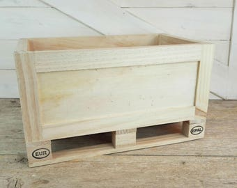 Rustic wooden box - large size