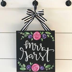 Teacher sign - CUSTOM- teacher gift - farmhouse sign - teacher appreciation gift - wholesale - farmhouse chic decor - shabby chic decor