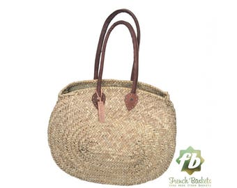 Natural Basket ovale, French Basket, Moroccan Basket, straw bags french market basket, Beach Bag, straw bag Beach Bag woven bag
