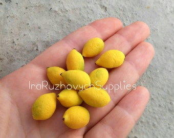 10 pcs. lemons , polymer clay beads, lemon