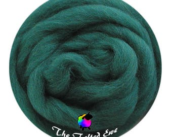 Needle Felting Wool Roving / ES28 Mountain Pine Carded Wool Sliver