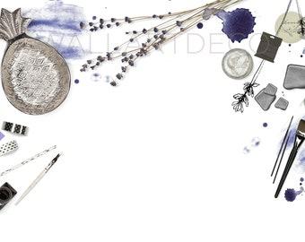 Lavender Styled Stock Photo, Stock Photography, Styled Photography, Stock Image, Mockup, Product Photography, Blog Stock, Social Media