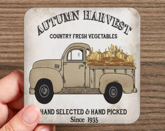 Autumn Harvest Drink Coasters  (4 coasters in a set)