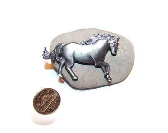 Vintage horse pin, Equestrian brooch, Horse pin, Horses