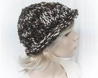Patron Chapeau en grosse laine - DIY chapeau au tricot - Tutoriel PDF: Tricot rapide!