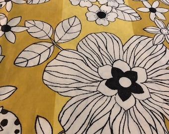 floral pillowcase- 1970's