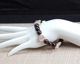 Garnet and Freshwater Pearl Bracelet