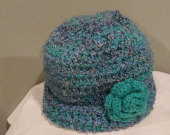 Crochet Hat - Turquoise