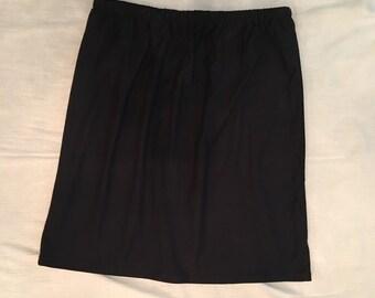 Women's Skirt, Black Skirt, Black Cotton Jersey Knit Skirt
