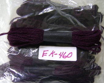 Yarn, Paragon, 100% Wool Crewel Needlepoint, Color #805 Plum, 8.8 Yard Skeins
