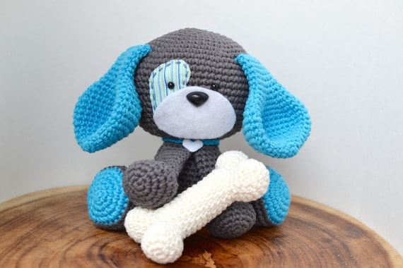 Cute Dog Crochet Pattern Domino The Dog Amigurumi Crochet Pattern