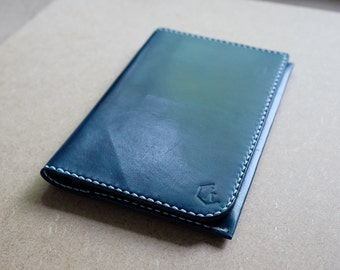 Leather Passport Holder - Hand Stitched Passport Case with Card Slots