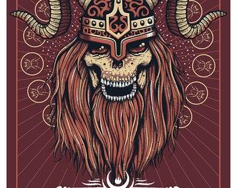 Mastodon printed silkscreen concert poster.