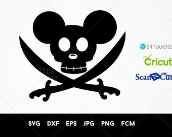 Mickey Pirate Svg - Mickey Pirate Vector - Pirate mickey Ears - Pirate Mickey Svg - Pirate Mickey Mouse Ears - Pirate Mickey Party - Disney