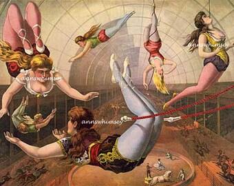 Child's Room Art, , The Circus, Family Room Art  #759