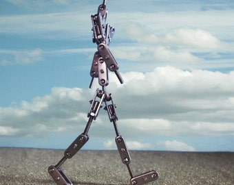 Human Figure Stop Motion Ball and Socket Puppet Armature Approx 8 inches Tall