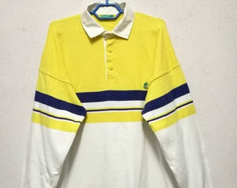 Vintage Benetton United Colors Of Benetton Small Logo Long Sleeve Button Up