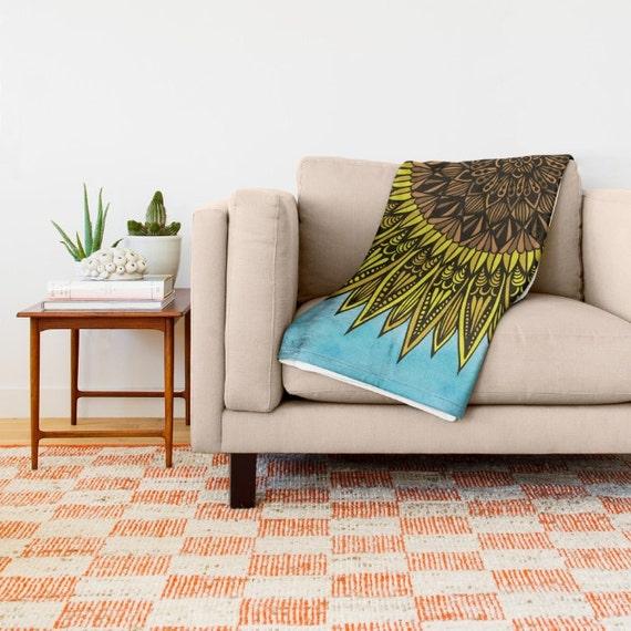Zentangle - Sunshine Throw Blanket