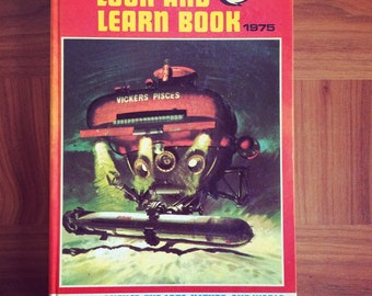 SALE 50% OFF Vintage Look and Learn annual 1975