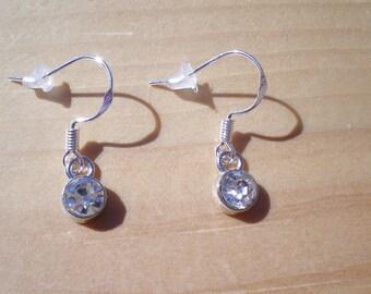 Birthstone Earrings, Diamond Like Birthstone Earrings, Jewelry Findings