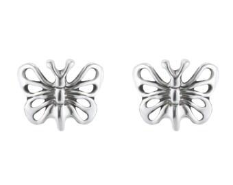 Sterling Silver Butterfly Earrings, Studs Earrings, Butterfly Studs Earrings, Silver Butterfly Earrings, Butterfly Jewelry, Silver Earrings