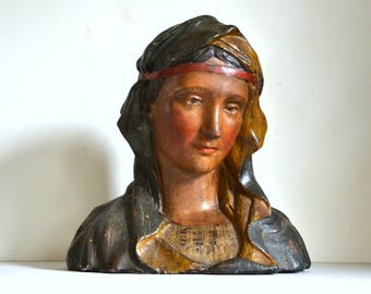 beautiful Virgin Mary religious statue Madonna