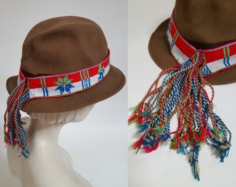 vintage Handwoven Andean Morochuco / Peru Cowboy / Horse and Bull Reversible Hatband