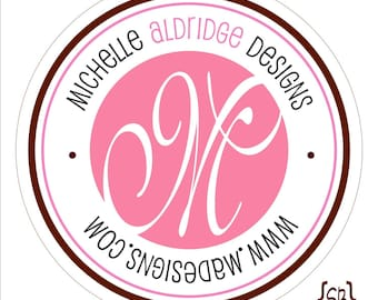 Double Outline Personalized Monogram Stickers or Tags