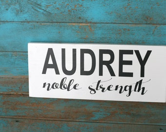 Name & Meaning Sign for Baby, Baby Room Decor, Nursery Decor, Baby Gift, Home Decor, Baby Shower Gift