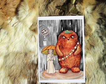 Totobacca. Geeky Greeting Card A5. Artprint by Sophie Grunnet