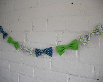 Bow Tie Garland - Fabric - Handmade - Ready To Ship - Photo Prop