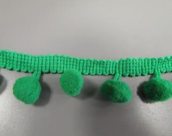 Green Pom Pom Trim Braid